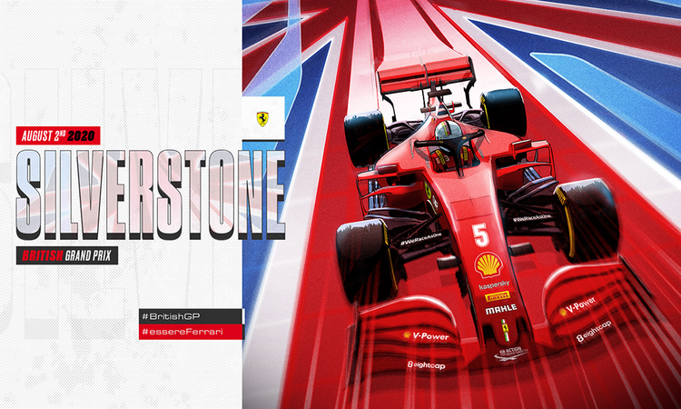 The SF1000 sets its wheels on the land of Albion, ready to ride the historic Silverstone pavement. Formula 1's 70th anniversary is just around the corner!