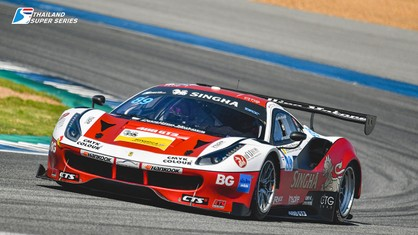 Good performances from the three Ferraris on track in the second round of the Thailand Super Series season at the Chang International Circuit in Buriram, hampered only by a run of bad luck.