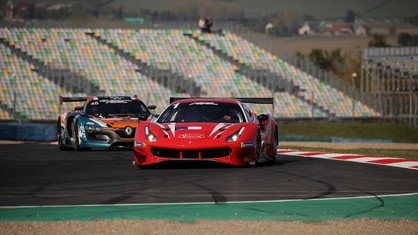 The domination of Jean-Paul Pagny, Thierry Perrier and Jean-Bernard Bouvet at the wheel of the Visiom 488 GT3 Evo 2020 knows no bounds