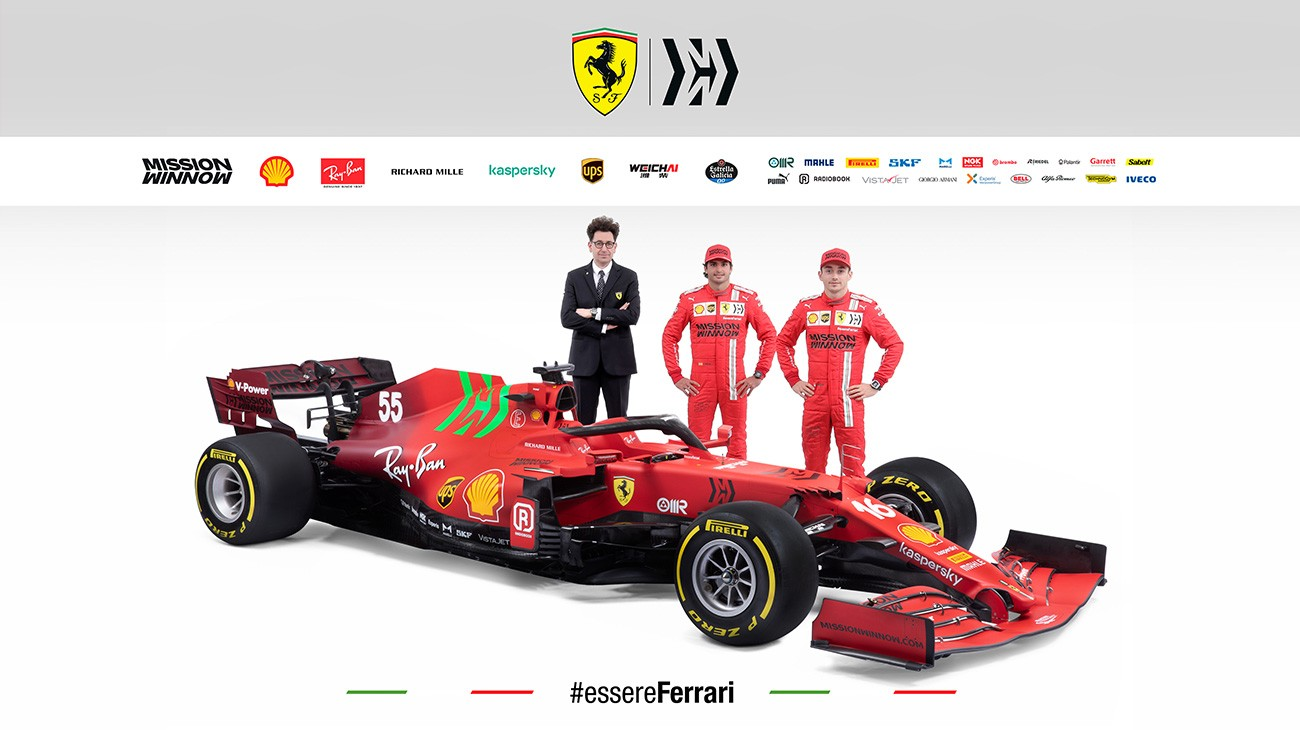 A livery blending two shades of red for the 2021 car, aimed at the future, while not forgetting our history