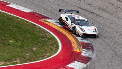 Despite challenging conditions, Ferrari continued its domination of the GT World Challenge America Powered by AWS Am class, scoring a win Saturday's opening race at Circuit of The Americas.