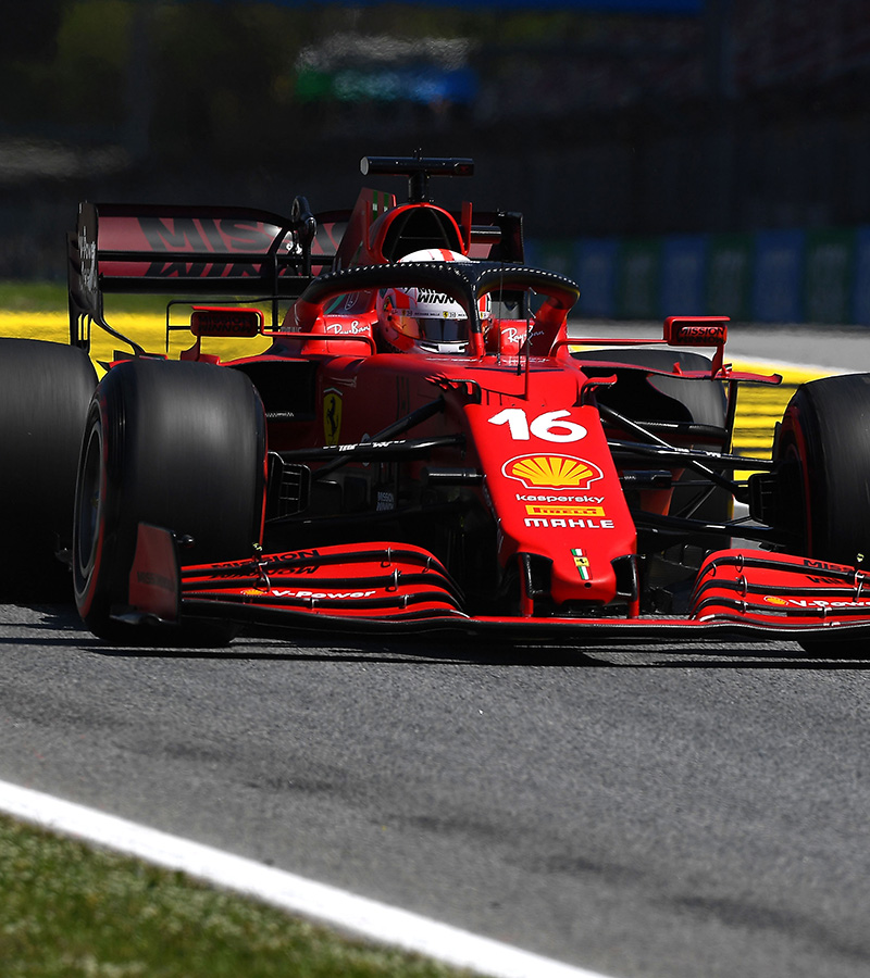 Charles Leclerc and Carlos Sainz will line up in fourth and sixth places on the grid for the Spanish Grand Prix, when it starts at 15 CET tomorrow at the Barcelona-Catalunya Circuit.