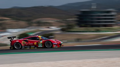Miguel Molina and Daniel Serra, aboard the AF Corse-run 488 GTE, set the fastest time in the second free practice session held in Portimão.