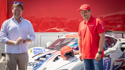 Toni Vilander, Ferrari Competizioni GT Official Driver, joined the second round of the Ferrari Challenge UK season at Donington Park this weekend as a race advisor and to meet the Gentlemen Drivers who take part in the series.