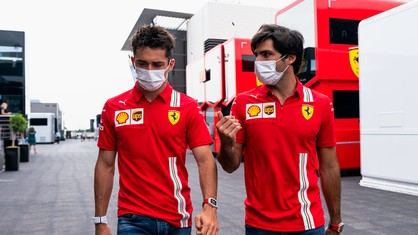 Charles Leclerc and Carlos Sainz are back at the Paul Ricard circuit, three weeks after taking part in Pirelli 2022 rain tyre testing here.