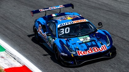 Extraordinary victory in the DTM championship maiden outing at Monza for the Red Bull AF Corse-run Ferrari 488 GT3 Evo 2020 driven by Liam Lawson.
