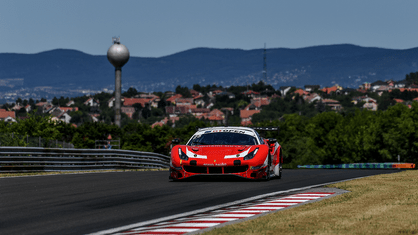 American crew Michael Dinan and Robby Foley marked their debut in the Ferrari 488 GT3 Evo 2020 of Kessel Racing with a podium finish in the PRO class at Budapest in the third round of the International GT Open.