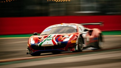 Sixteen hours after the lights went out, the #51 Ferrari still leads the Pro class, while #52 tops the Pro-Am standings.