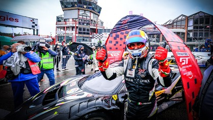 Snapshots from inside Alessandro Pier Guidi's helmet, nine minutes and thirty-five seconds from the end of the 24-hour slog, in a manoeuvre that has been described as one of the most stunning in the history of endurance racing; unquestionably 'the overtake of the year'.