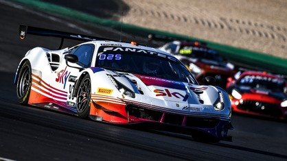 Sky Tempesta Racing's Ferrari qualified in first, the best result for the Prancing Horse cars in the official practice session for the 3 Hours of Nürburgring.