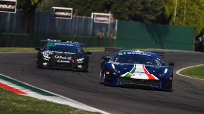 It was an exciting weekend at Imola, where the penultimate round of the Italian GT Sprint Championship took place. The Ferraris claimed four victories and lots of podiums in the two 50-minute-plus races.