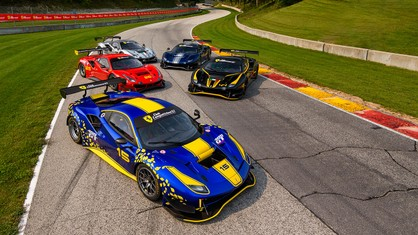 Six Ferrari 488 GT Modificata gathered at the famed and historic Road America circuit as part of the final North American round of Ferrari Challenge action in the 2021 season.