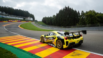 As if to ward off the scare from last year's accident, Ernst Kirchmayr notched up an extraordinary double win on the Spa-Francorchamps circuit, with the Baron Motorsport driver closing the gap on championship leader James Weiland.