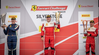 Swift takes his second win of the weekend in the Trofeo Pirelli class, with Graham de Zille winning in the Coppa Shell in a thrilling race at Silverstone.