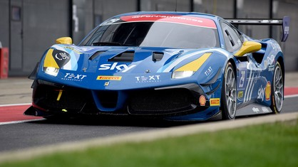 The Ferrari Challenge UK drivers were faced with wet conditions in the second qualifying session at Silverstone, where drivers were dealing with an ever-drying track.