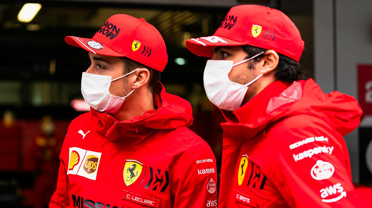 Dreary autumn weather, rather than the usual mild and sunny conditions that last into October in this part of Russia, met Scuderia Ferrari Mission Winnow drivers Carlos Sainz and Charles Leclerc when they arrived in the Sochi paddock.