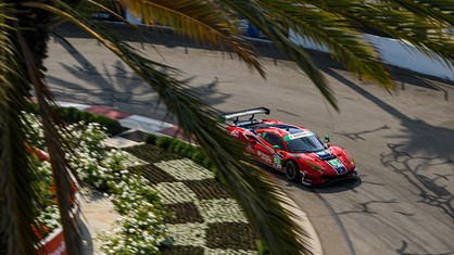 Ferrari made its return to IMSA WeatherTech SportsCar Championship competition by qualifying fifth in the GT Daytona class for Saturday's SportsCar Grand Prix on the fabled streets of Long Beach.