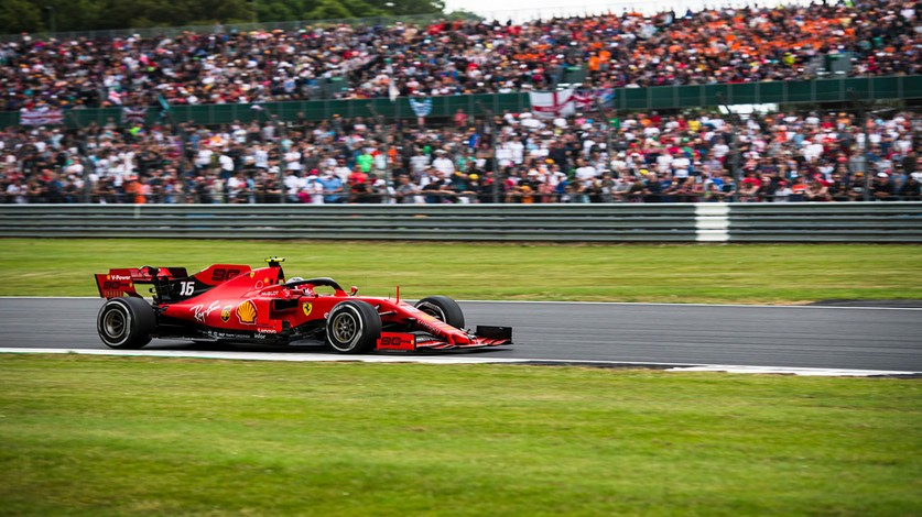 British Grand Prix - Fourth consecutive podium for Charles