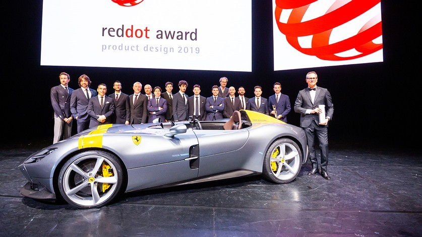 Flavio Manzoni and the Ferrari Design team are officially named Red Dot: Design Team of the Year 2019