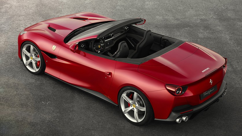 The Ferrari Portofino wins the Altair Enlighten Award for  lightweight chassis technology