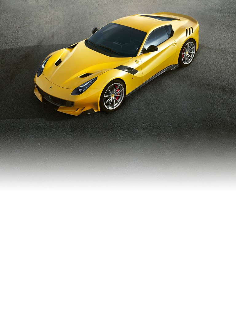 The Ferrari F12tdf is the ultimate expression of the concept of an extreme road car that is equally at home on the track