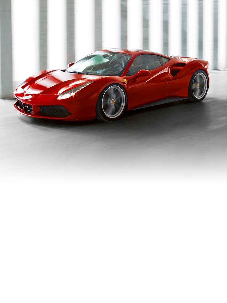 The 488 GTB name marks a return to the classic Ferrari model designation with the 488 in its moniker indicating the engine's unitary displacement, while the GTB stands for Gran Turismo Berlinetta.