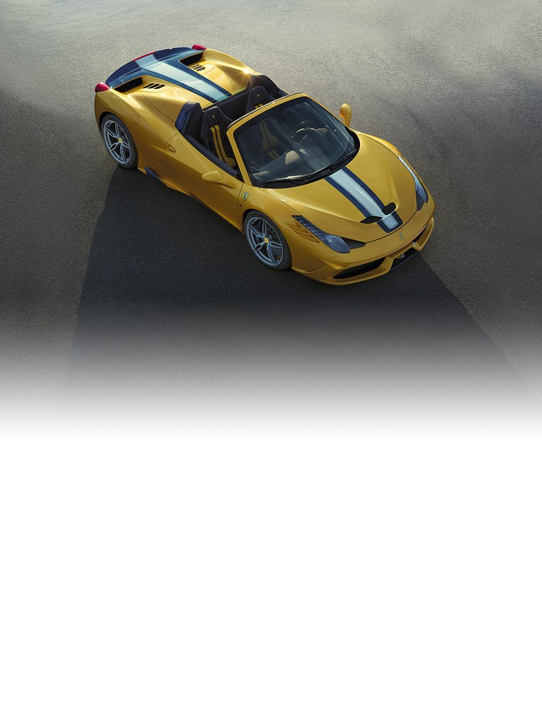 The 458 Speciale A (A as in Aperta) limited edition special series is a celebration of the dazzling success of the various versions of the 458.