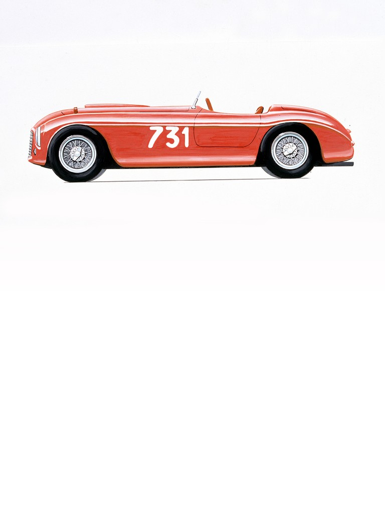 The big new Lampredi engine got its first outing in the Ferrari 275 S sports car at 3322 cc.