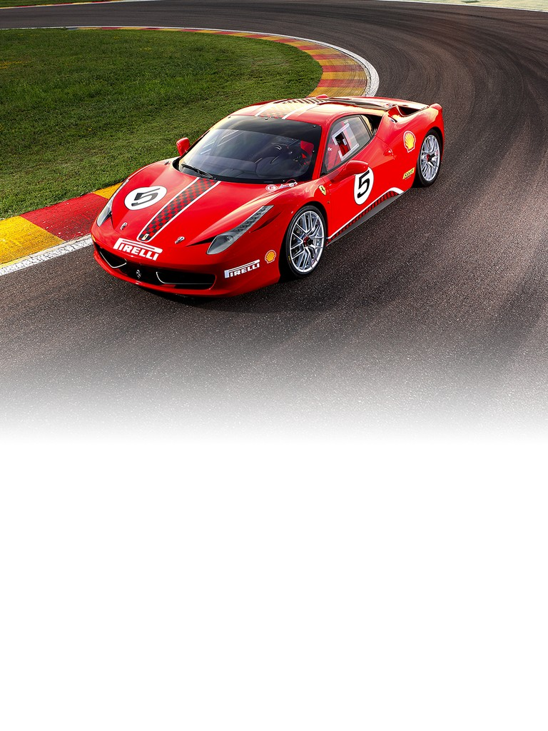 Following in the footsteps of the 348, the 355, the 360 and the F430, the 458 Challenge  is the fifth model fielded by Ferrari for the one-make Ferrari Challenge Trofeo Pirelli championship it organises for its sportier clients.