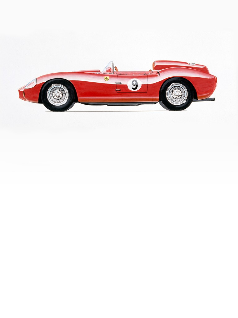 The only Ferrari 312 S ever built was chassis no. 0744 (chassis design type 524) and was powered by a Tipo 142 engine with twin overhead camshafts.