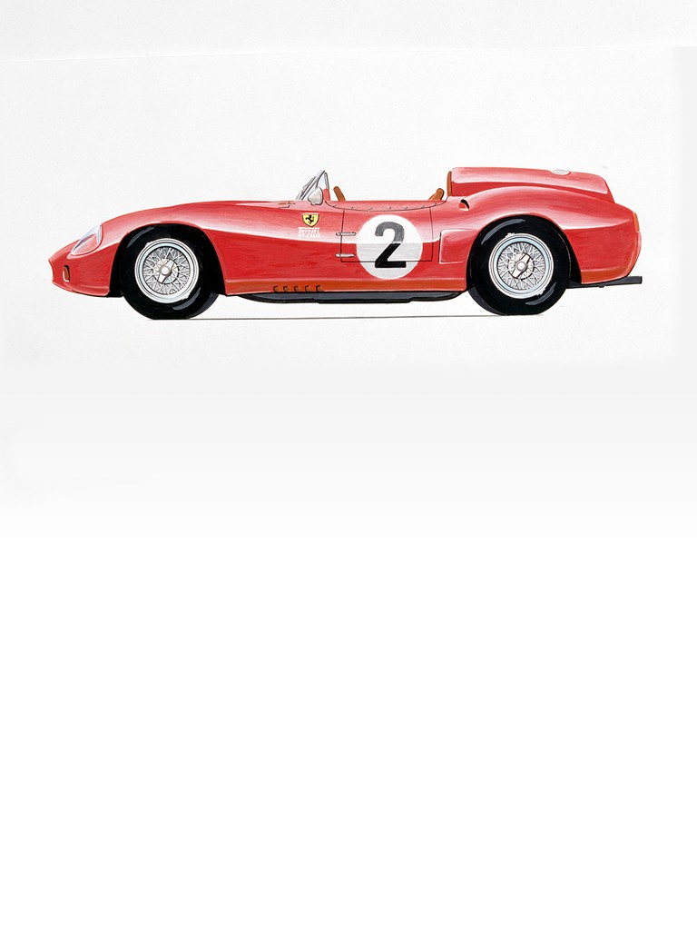 The only Ferrari 412 S was built on chassis no. 0744 (ex-312 S – chassis design type 524)