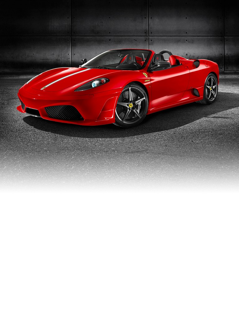 Celebrating the win of the 2008 formula 1 constructor's world title this car bears the name Ferrari Scuderia Spider 16M.
