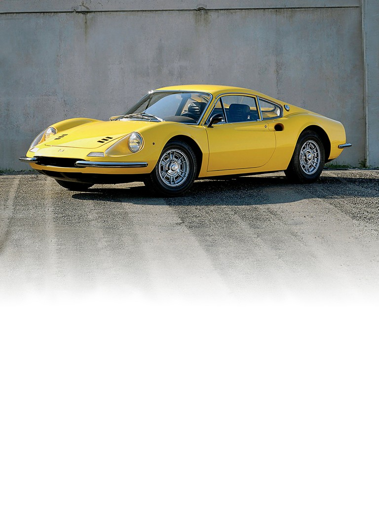 Ferrari 206 GT: With the prototype of the Dino 196 S already in-house, there was an excellent opportunity to design a relatively small displacement