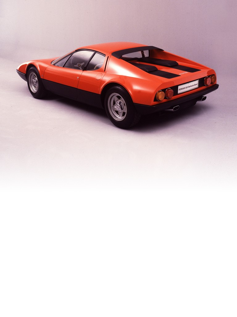 Ferrari 365 GT4 BB: There were two important novelties on this car: the new 12-cylinder boxer derived from the Formula 1 car, and the mid-engined layout