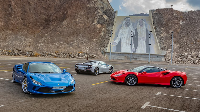The new Ferrari F8 Tributo fills the mountain roads of Hatta with the mighty V8 rumble