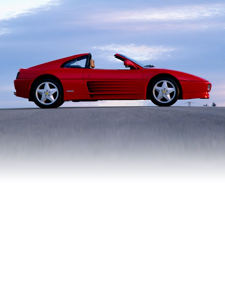 This Ferrari 348 GTS two-seater convertible offered the same specifications as the 348 GTB