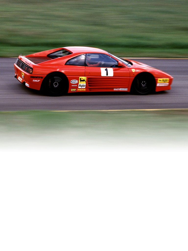 Ferrari 348 Challenge: The Ferrari Challenge debuted in 1993 and at that time included just an Italian and European series.