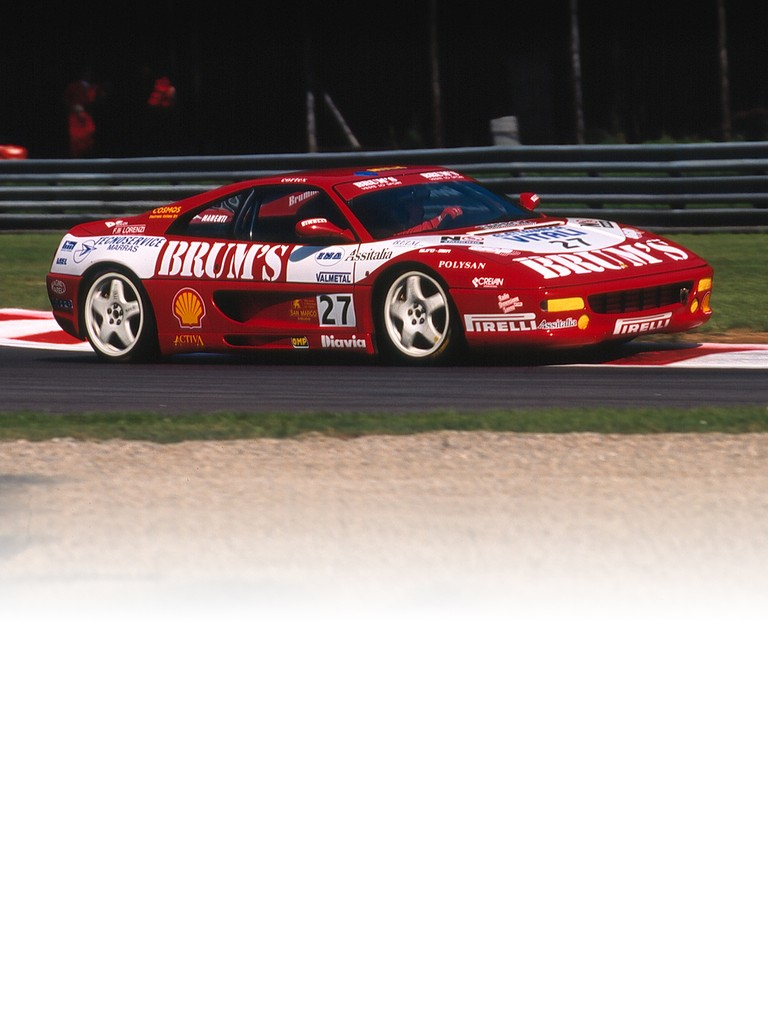 The Ferrari F355 Challenge flanked the 348 Challenge in the Ferrari Challenge for the 1995 season.
