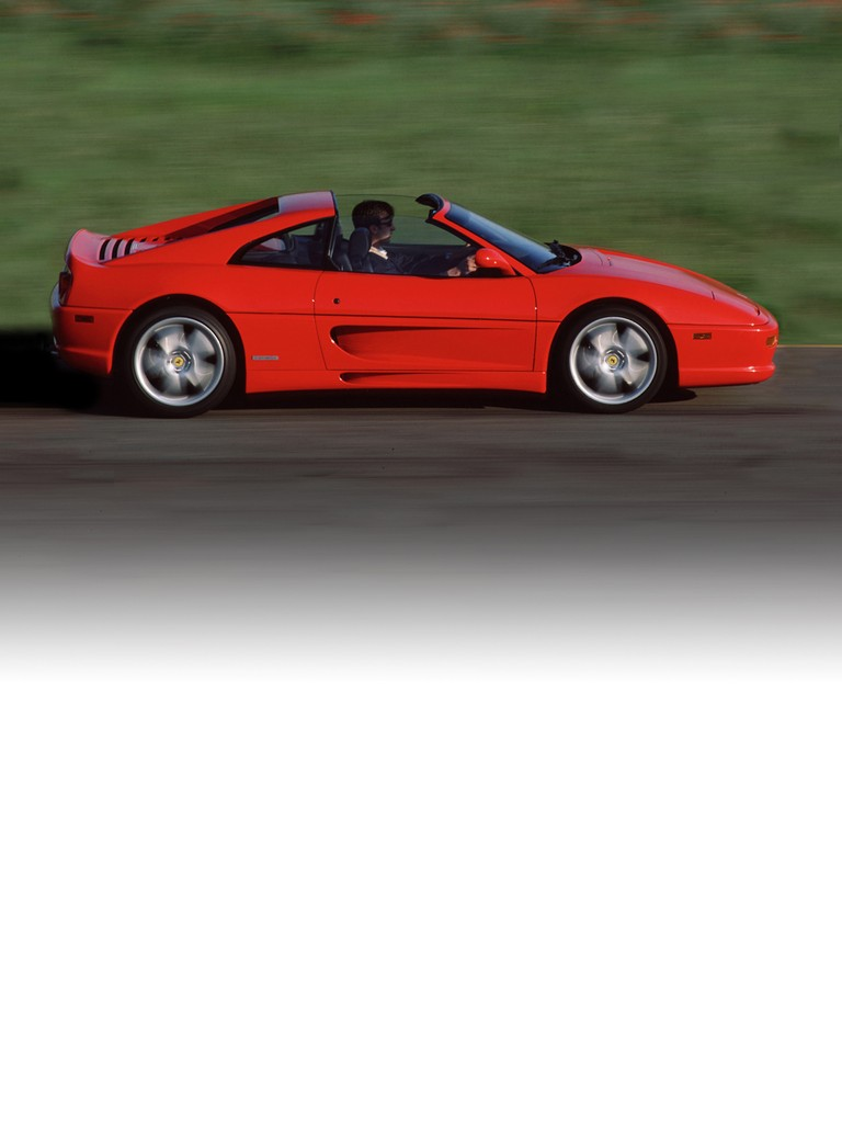 Ferrari 355 F1 GTS: This was the first ever road car to be equipped with the innovative F1-style gearbox management system, available on all three versions: berlinetta, GTS and spider.