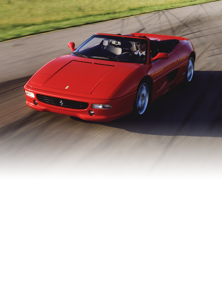 Ferrari 355 F1 Spider: This was the first ever road car to be equipped with the innovative F1-style gearbox management system, available on all three versions: berlinetta, GTS and spider.