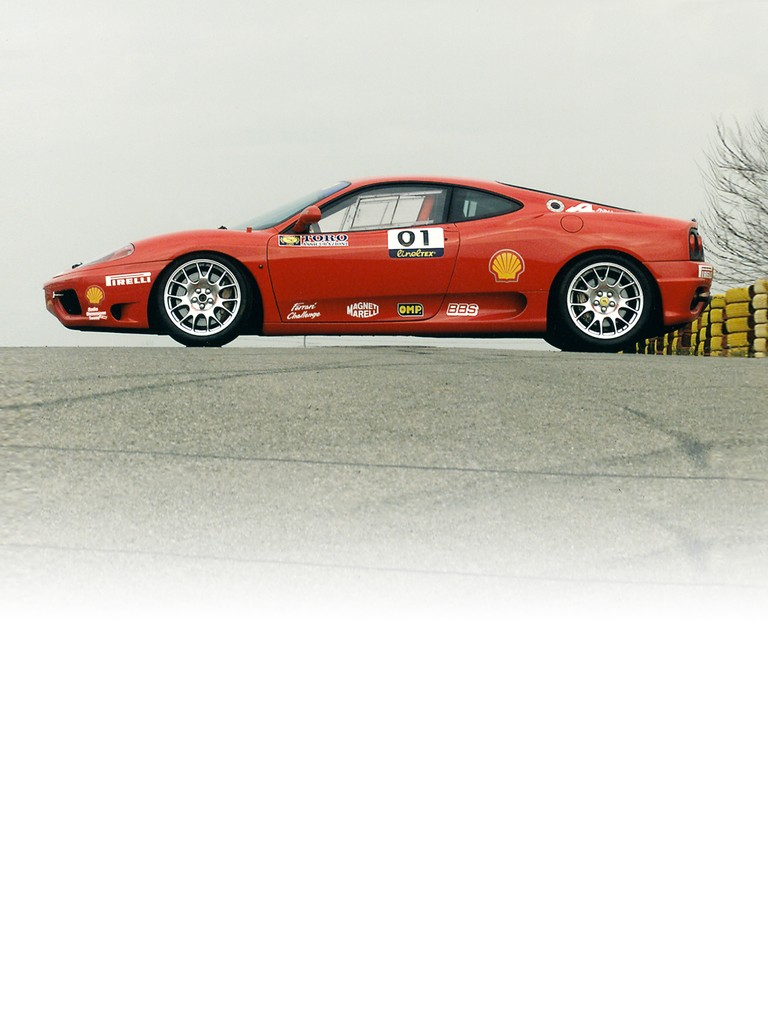 Discover all the specifications of the Ferrari 360 Challenge, 2000: dimensions, wheel and tyres, suspension, and performance.