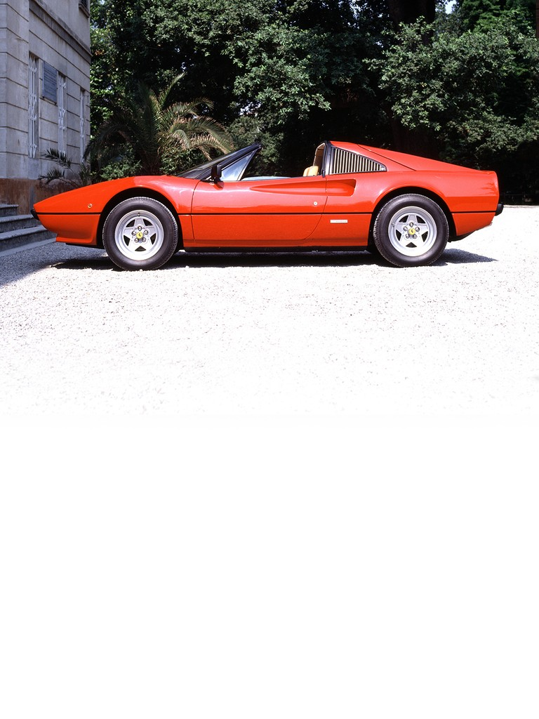 Ferrari 308 GTSi: This spider version of the 308 GTBi shared both its line and engine. The fuel injection system gave both models much smoother power delivery.