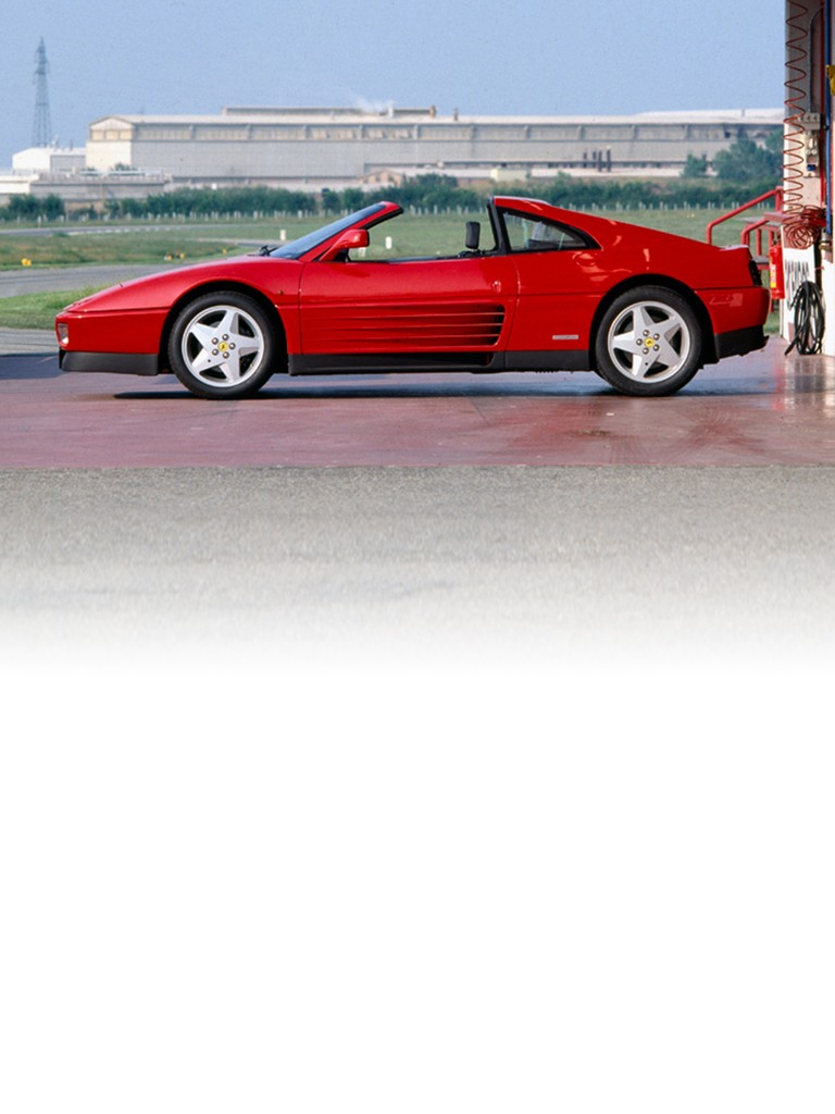The convertible version of the Ferrari 348 TS, with a removable hard top, was powered by the same drive-train