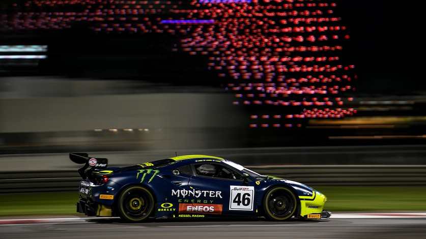 Winning debut for Valentino Rossi in the 488 GT3 in Gulf 12 Hours