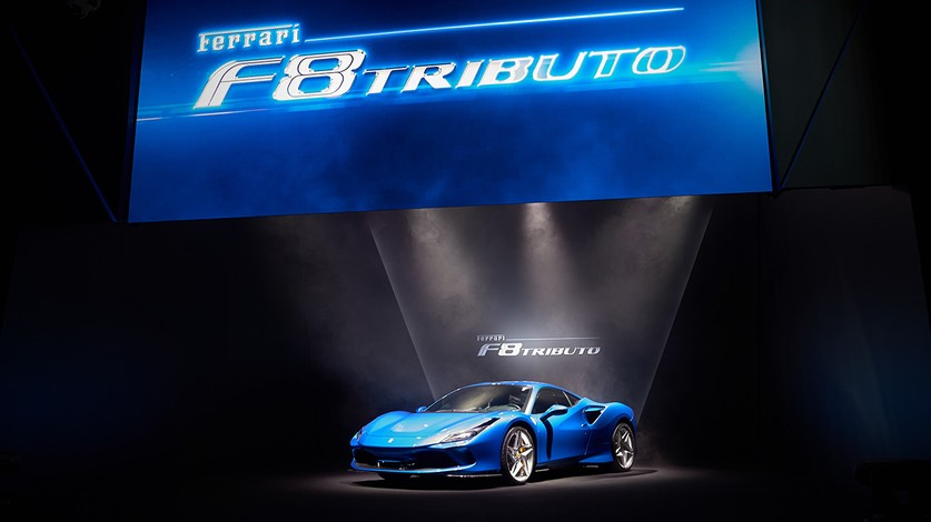 The Ferrari F8 Tributo  star of the renowned Best Cars Award 2020