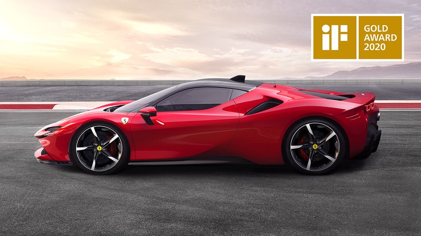 Ferrari SF90 Stradale wins the iF Design Gold Award