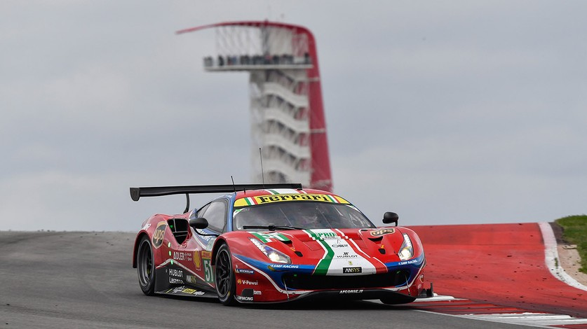 WEC - Ferrari on podium at COTA Perrodo-Collard-Nielsen leading the Am class