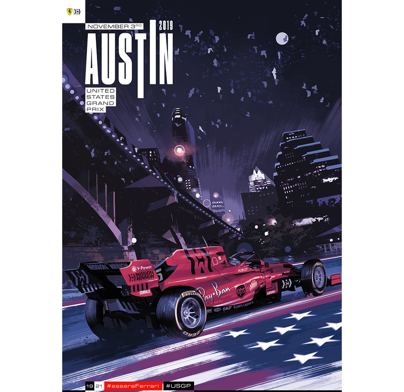 Texas 2019 - The prancing horse crosses the border and dives into in the streets of Austin.
