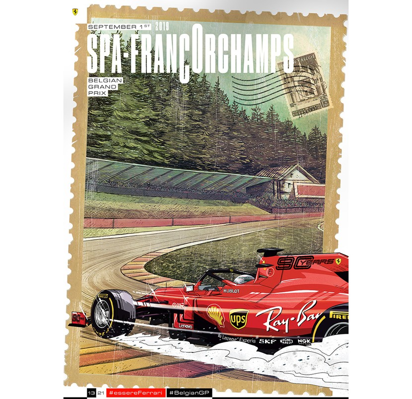 Cover art by Riccardo Torti - Spa-Francorchamps 2019
