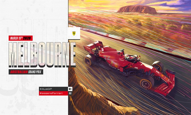 Cover art by Matteo Spirito for Scuderia Ferrari Melbourne 2020